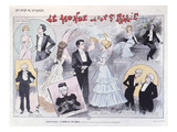 Poster Advertising the Satirical Comedy 'Le Monde Ou L'On S'Ennuie' by Edouard Pailleron Giclee Print by Jack Abeille