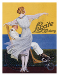 Advertisement for 'Luxite Hosiery', from 'Vogue' Magazine, 1919 (Colour Litho) Giclee Print by C. Coles Phillips