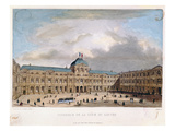 Interior of the Cour Carree of the Louvre, C.1845-40 (Colour Litho) Giclee Print by C. Gavard
