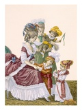 The Children of the Comte D'Artois, Engraved by Dupin, Plate No.159 Giclee Print by Pierre Thomas Le Clerc