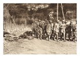 Transportation of Captured Italian Officers on the Road to Woltschach (B/W Photo) Giclee Print by  German photographer