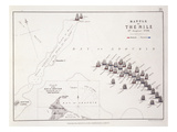 Plan of the Battle of the Nile, 1st August 1798, C.1830S (Engraving) Giclee Print by Alexander Keith Johnston