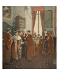 The Court of Appeal During the Zola Affaire Giclee Print by Fortune Louis Meaulle