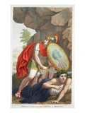 Perseus Beheads Medusa, Book IV, Illustration from Ovid's Metamorphoses, Florence, 1832 Giclee Print by Luigi Ademollo