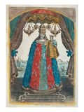 Our Lady of Loretto, Late 18th Century (Coloured Engraving) Giclee Print by  French