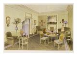 Green Sitting Room (Colour Litho) Giclee Print by Richard Goulburn Lovell