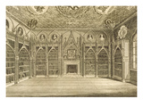 The Library, Engraved by Godfrey, from 'Description of Strawberry Hill' by Horace Walpole, 1784 Giclee Print by  English