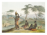 Boosh Wannahs, Plate 8 from 'African Scenery and Animals', Engraved by the Artist, 1804 (Aquatint) Giclee Print by Samuel Daniell