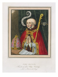 Portrait of John Alcock (C. 1430-1500), Founder of Jesus College, Cambridge Giclee Print by  English