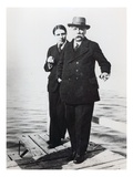Alfred Cortot (1877-1962) and Gabriel Faure (1845-1924), Early 20th Century (B/W Photo) Giclee Print by  French Photographer