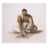 A Dyback, or Astrologer, from 'Costumes of India' by E. Orme, 1804 (Coloured Etching) Giclee Print by Franz Balthazar Solvyns