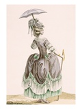 Back View of Lady's Grey Promenade Dress, Engraved by Dupin, Plate No.38 Giclee Print by Pierre Thomas Le Clerc