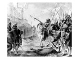 Joan of Arc Orders the English to Leave France, 1789 (Engraving) Giclee Print by  French