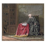 The Chancellor, Michel De L'Hopital (C.1503-73) Composes the Edict of Romorantin Giclee Print by Jacques Francois Joseph Swebach