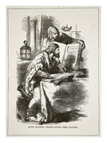 King Alfred Translating the Psalms (Litho) Giclee Print by  English