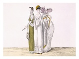 Three Parisian Graces, Plate 16 from 'Le Bon Genre', C.1810 (Colour Engraving) Giclee Print by  French