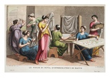 Minyades, Book Iv, Illustration from Ovid's Metamorphoses, Florence, 1832 (Hand-Coloured Engraving) Giclee Print by Luigi Ademollo