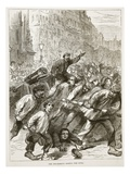 The Insurgents Seizing the Guns, March 1871 Giclee Print by  French