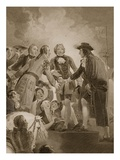 The Landing of William 3rd at Torbay, Engraved by George Noble Giclee Print by Thomas Stothard