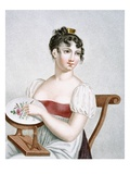 The Embroiderer, Engraved by Augrand, C.1816 (Coloured Engraving) Giclee Print by Madame G. Busset-Dubruste