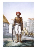 Armed Guard of the Brijbasis Tribe, Often Used by Travellers as Escort Giclee Print by Franz Balthazar Solvyns