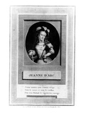 Joan of Arc (Engraving) Giclee Print by  French