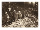 Italian Prisoners at Tolmin Led Back Through their Own Positions on the First Day of Battle Giclee Print by  German photographer