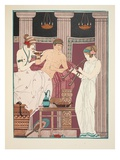 Music Therapy, Illustration from 'The Works of Hippocrates', 1934 (Colour Litho) Giclee Print by Joseph Kuhn-Regnier