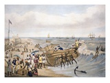Madras, Embarking, Engraved by C. Hunt, 1856 (Coloured Engraving) Giclee Print by J.B. East