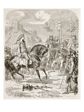 Vercingetorix before Caesar (Litho) Giclee Print by  English