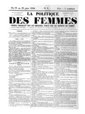 Front Page of the Weekly Newspaper 'Women's Politics', Giclee Print by  French