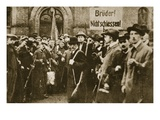 Brothers, Don'T Shoot!', Protest in Berlin, November 1918 (Sepia Photo) Giclee Print by  German photographer