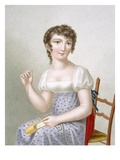 The Embroiderer, Engraved by Duthe, C.1816 (Coloured Engraving) Giclee Print by Madame G. Busset-Dubruste