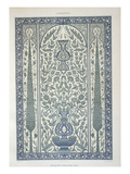 Design from Mosque of Ibrahym Agha Reproduction proc&#233;d&#233; gicl&#233;e par Emile Prisse d&#39;Avennes
