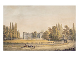Entrance to the Park and Chateau at Ermenonville, Early 19th Century (Gouache on Paper) Giclee Print by  French