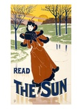 Read the Sun (Hand Coloured Litho) Giclee Print by  Liebler and Maass