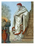 Pontifex Maximus, Illustration from 'L'Antique Rome', Engraved by Labrousse, Published 1796 Premium Giclee Print by Jacques Grasset de Saint-Sauveur