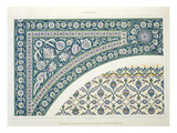 Wall Tiles of Sibyl D&#39;Abd-El-Rahman Kyahya Reproduction proc&#233;d&#233; gicl&#233;e par Emile Prisse d&#39;Avennes