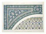 Wall Tiles of Sibyl D'Abd-El-Rahman Kyahya Reproduction procédé giclée par Emile Prisse d'Avennes