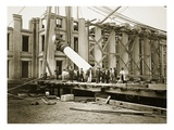 Construction of the South Wing, Department of the Treasury, Washington, D.C., 1861 (B/W Photo) Giclee Print by Lewis Emory Walker