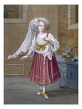 A Girl of Chios, Plate 74 Reproduction proc&#233;d&#233; gicl&#233;e par Jean Baptiste Vanmour
