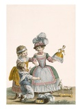 Children at Play, Engraved by Patas, Plate from 'Galeries Des Modes Et Costumes Francais' C.1778-87 Giclee Print by Pierre Thomas Le Clerc