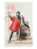 Hugues I Capet (941-996), King of France, from 'Le Plutarque Francais' by E.Mennechet, 1835 Giclee Print by  French
