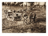 The Tremendous Efforts of the French in the Battle to Recapture Kemmelberg Giclee Print by  German photographer