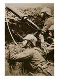 Machine Gun, Attended (Sepia Photo) Giclee Print by  German photographer