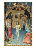 Altarpiece Depicting the Baptism of Jesus by St. John the Baptist from the Church of Cabrera Giclee Print by Bernardo Martorell