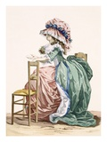 Lady Sits Leaning on a Chair, Engraved by Bacquoy, Plate 203 Giclee Print by Francois Louis Joseph Watteau