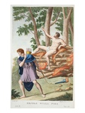 Hercules on the Pyre, Book IX, Illustration from Ovid's Metamorphoses, Florence, 1832 Giclee Print by Luigi Ademollo