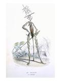 A Country Stroller, from 'L'Empire Des Legumes, Memoires De Curcurbitus' Giclée-Druck von Amedee Varin
