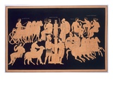 King Oenomaus, Hippodamia, and Olympian Gods, Published 1808-10 (Colour Litho) Giclee Print by  French